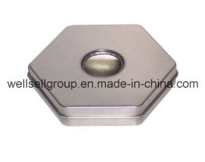 Hexagonal Custom Tin Box for Food/Gift/Chocolate/Tea/Candy pictures & photos