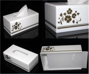 Modern White Acrylic Bathroom Facial Tissue Dispenser Box Cover / Decorative Napkin Holder pictures & photos