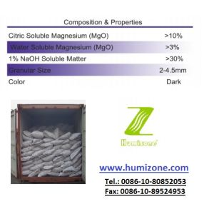 Humizone Humic Fertilizer From Leonardite: Magnesium Humate Granular pictures & photos