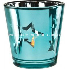 Fashion Star Scented Soy Candle in Blue Eletropalte Glass pictures & photos