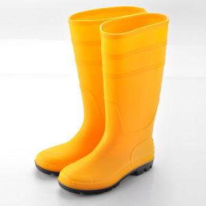 PVC Rain Boots (JK46501-Yellow) pictures & photos