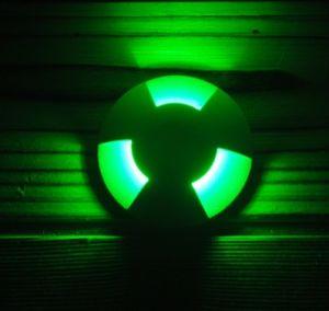 IP67 1 Way Lighting Angle Aluminum LED Inground Light LED Inground Lamp Outdoor Set of 10 (White Brown Cover)