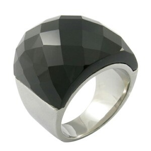 316L Stainless Steel Blue Imitation Gemstones Ring pictures & photos