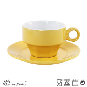 Shinning Glazing Color Cup&Saucer pictures & photos