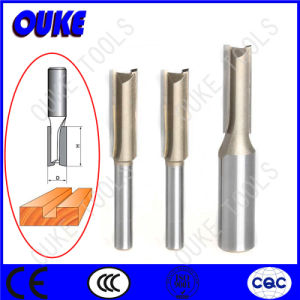Wood Working Double Flutes Straight Router Bits pictures & photos