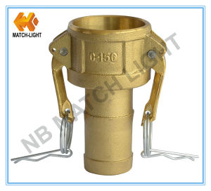 Brass Coupler Type C Camlock Coupling with Grooved Hose-Shank pictures & photos