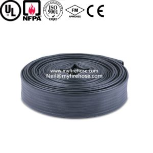 4 Inch Wear-Resisting Nitrile Rubber Lined Coated Fire Hose pictures & photos