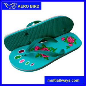 New Novel Rose Print PVC Slippers for Man (13L029) pictures & photos