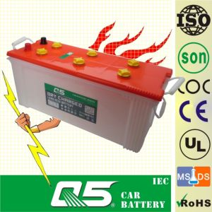 JIS-N120 12V120AH Vibratory Road Roller Heavy Road Roller Lead-Acid Dry Charged Auto Battery PP Plastic pictures & photos