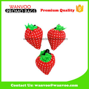 Promotional Carton Strawberry Shape Polyester Foldable Packing Shopping Bag pictures & photos