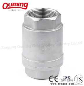2PC Threaded End Vertical Check Valve pictures & photos
