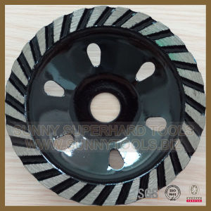 Turbo Segments Diamond Cup Wheel for Concrete Grinding pictures & photos