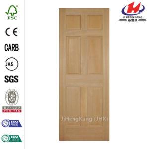 6-Panel Solid Core Wood Slab Door pictures & photos