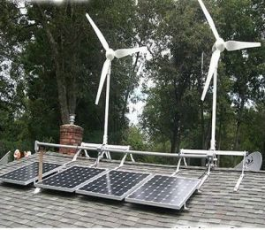 Small 300W 500W 700W 1kw Solar Wind Hybrid Power System pictures & photos