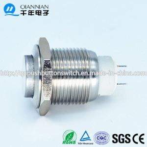 16mm 1no Self-Locking High Flat Nickel Plated Brass Stainless steel Push Button Switch pictures & photos