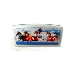 Red LED Digital Electric Table Alarm Clock with Temperature Display pictures & photos