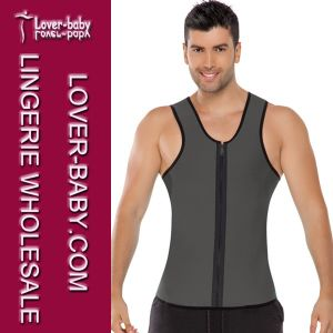 Men Gym Tops Sports Wear Waist Trainer Vest (L42660-2) pictures & photos