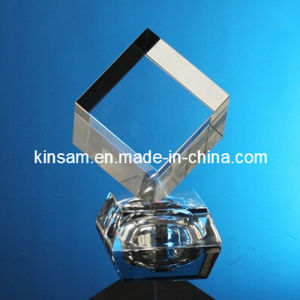 Crystal Glass Cube 3D Laser Engraving Craft pictures & photos