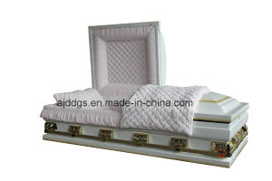 White Shaded Light Gold Finish Casket (Oversize) pictures & photos