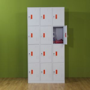 12 Compartment Steel Locker for Storage Bags and Clothes pictures & photos