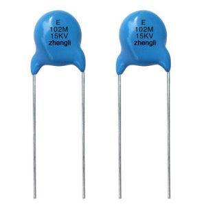 Blue High Voltage Ceramic Capacitor pictures & photos