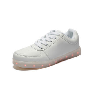 Glow Luminous LED Light Lace-up Shoes Battery Operated Unisex Shoes pictures & photos