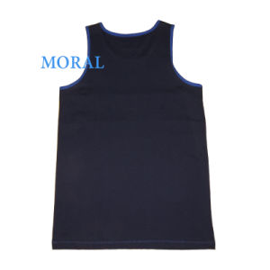Men′s Sport Basketball Vests with Round Neck pictures & photos