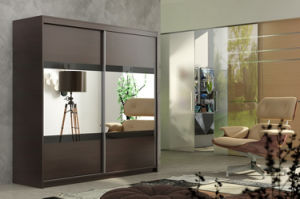 High Quality Mirror Sliding Door Bedroom Closet (HF-EY012) pictures & photos