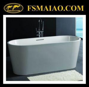 Standard Ellipse Freestanding Stone Resin Bathtub Matt White (BS-8604) pictures & photos