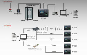 Multi-Media Color Screen Fingerprint Time Attendance and Access Control with GPRS (TFT900/GPRS) pictures & photos