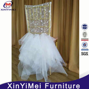 Jenny Bridal Lace Top Chiffon Ruffled Wedding Chair Covers pictures & photos