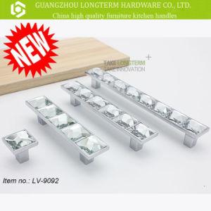 Luxurious Zamak Diamond Decorative Closet Handle pictures & photos