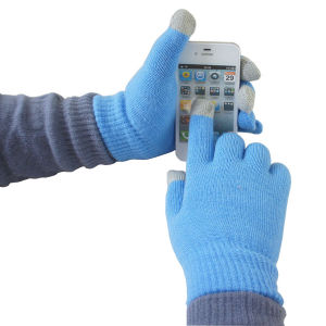 Lady′s Fashion Acrylic Knitted Winter Touch Screen Magic Gloves (YKY5467) pictures & photos