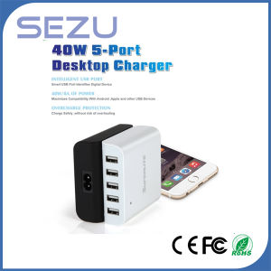 40W Quick Charger with 5 USB Ports pictures & photos