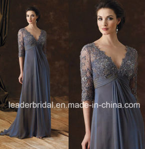 Blue Mother of Bride Dress Lace Long Formal Evening Dresses Mm2016 pictures & photos