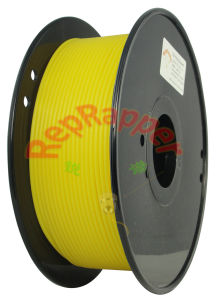 Well Coiled Flexible 3.0mm Yellow 3D Printing Filament