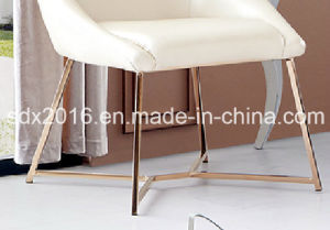 PU High Density Foam Stainless Steel Dining Chair Home Furniture pictures & photos