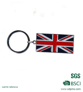 Cheap High Quality UK Flag Enamel Key Chain for Gift pictures & photos