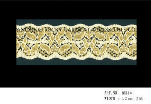 Beautiful Elstic Polyester Narrow Trim Lace pictures & photos