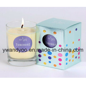 Natural Soy Wax Candle in Tall Glass, Gift Candle