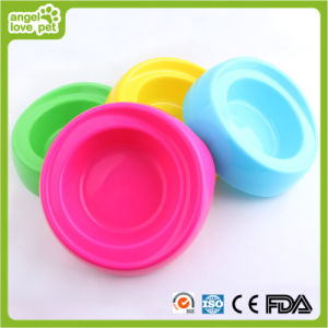 Plastic Fashion Single Pet Bowl (HN-PB865) pictures & photos