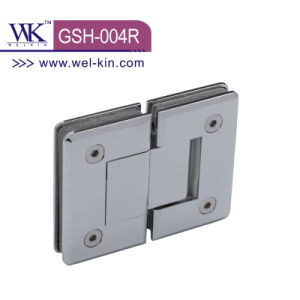 High Quality Brass Chrome 90 Degree Round Shower Hinge (GSH-004R)