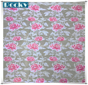Rose Pattern Bright Nylon Lace Fabric for Fashion Garment