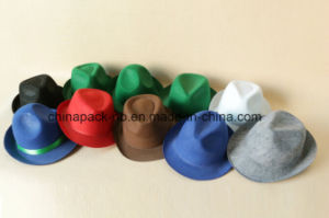 Polyester Different Color Felt Fedora Party Hats for (CPPH_004) pictures & photos
