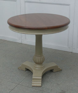 Brief and Stereoscopic Round Table Antique Furniture pictures & photos