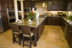 Dark Walnut Kitchen Cabinets (dw52) pictures & photos