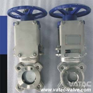 Wafer & Lug Stainless Steel or Cast Iron Electric and Pneumatic Slurry Sluice Knife Gate Valve pictures & photos