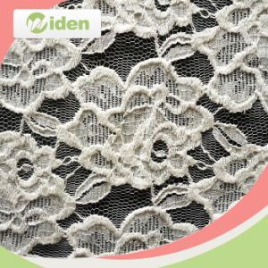 African Pupolar White Cotton and Nylon Lace Fabric pictures & photos