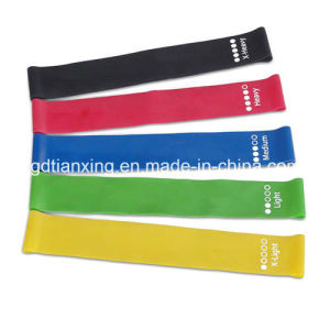 12 Inch Set of 5 Bands Physical Therapy Fitness Exercise Bands Resistance Loop Band with Carry Bag pictures & photos