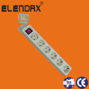 6-Way EU 10/16A Extension Power Socket and Switch (E9006ES) pictures & photos